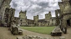 Medieval Bodiam castle Stock Footage