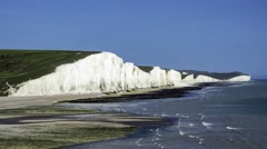 White cliffs in Southern England Stock Footage