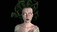 Medusa, Gorgon, animation Stock Footage