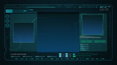 Digital display interface. technology graph, computer operation data screen.2 - stock footage