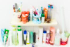 Blurred sanitation product in the bathroom Stock Photos