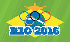 Illustartion of rio de janeiro 2016 august games Stock Illustration