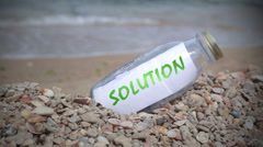 Solution written on a note Stock Footage