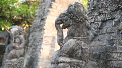 Gate in Pura Luhur Uluwatu temple on Bali, Indonesia Stock Footage