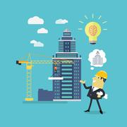 Implementation Ideas Architect - stock illustration