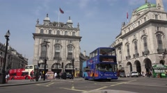 4K Traffic at Piccadilly Circus in London, Tourists Walking, Crossing the Street Stock Footage