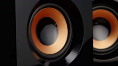 Speaker pumps with bass. Closeup Stock Footage