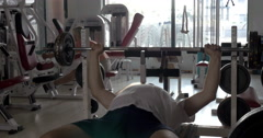Senior people exercising in the gym - stock footage