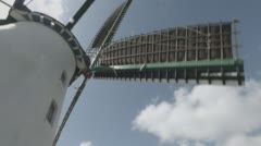 Mill-4K-clouds-bluesky-tilt-wideangle - stock footage