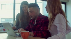 creative teamwork group in the startup office - stock footage