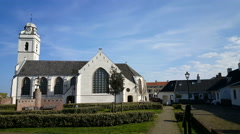 Andreas church in Katwijk at sea Stock Footage
