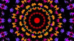 abstract kaleidoscope shape, black background, loop - stock footage
