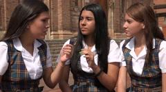Confused People Teen Girls Stock Footage