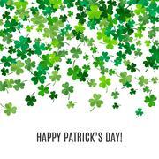 St Patricks Day background. illustration Stock Illustration