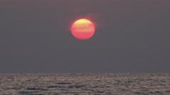 Ocean Sea Sunset Beach, Sunrise, Sundown, Dusk, Seashore Waves Seascape View Stock Footage