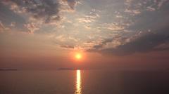 4K Ocean Sea Sunset Beach Timelapse, Time Lapse Sunrise, Sundown, Seashore Waves Stock Footage