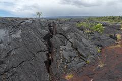 Lava Field on Big Island of Hawaii Stock Photos