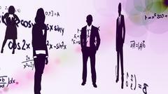 Mathematics and Business - stock illustration