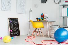 Creative space interior décor Stock Photos