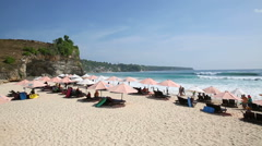 Dreamland Beach in Uluwatu. Bali Indonesia Stock Footage