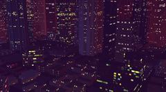 Vintage City at Night Piirros