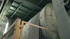 Ceramic tiles manufacturing , Ceramics Plant, Mills Dry Grinding - stock footage