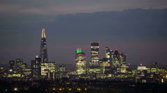 Night to Day City Skyline Time Lapse Stock Footage