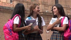 High School Students Laughing Stock Footage