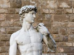 David by Michelangelo in Florence, Italy - stock photo