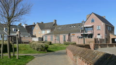 White Dutch houses in Katwijk Stock Footage