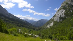 Beautiful view of the Alps, Slovenia - stock footage