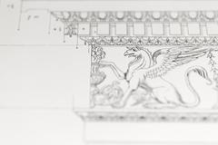 architectural drawing - detail - stock photo