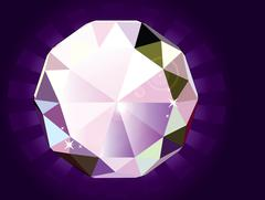 A brilliant cut diamond - stock illustration
