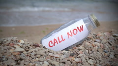 Call now statement  Stock Footage