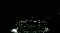 Macro Of Water Droplet Falling In Water In Super Slow Motion 2000 Fps Stock Footage