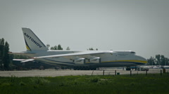 AN-124 Ruslan on the  base in Kiev - stock footage