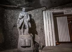 Johann Wolfgang von Goethe salt statue in Wieliczka Salt Mine - stock photo