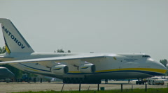 One of the biggest aircrafts in the world AN-124 Ruslan - stock footage