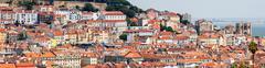 Lisbon Historical City Panorama, Portugal Stock Photos
