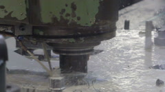 Lots of water on the machine while working Stock Footage