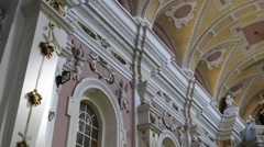 Church of St. Francis Seraphic in Poznan, Poland Stock Footage