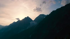 Beautiful alpine landscape of Antholzer valley at the sunset, South Tyrol, Italy - stock footage