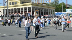 Immortal Regiment in Moscow - stock footage