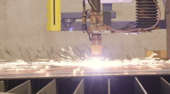 Sideview of the plasma cutter Stock Footage