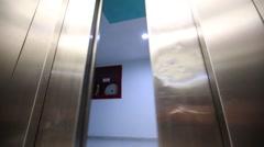 Elevator is arriving and doors open Arkistovideo