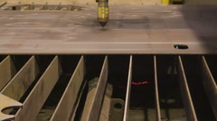 View of the plasma cutting process Stock Footage