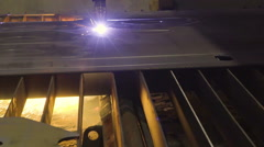 The process of plasma cutting in the metal Stock Footage