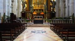 Church or Monastery of Sao Vicente de Fora in Lisbon Stock Footage