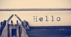 Composite image of the word hello - stock photo