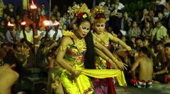 Traditional Balinese Kecak Dance at Uluwatu Temple, Bali, Indonesia Stock Footage